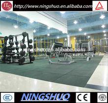 China factory of elastic non toxic environmental protection gym mats rubber