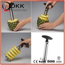 Easy Fruit Pineapple Corer Slicer Peeler Cutter Parer Stainless Kitchen Tool Kit