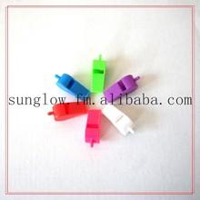 wholesale cheap plastic children toy cheering flat plastic whistle