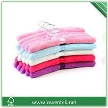 bedroom hanger dress usage soft hanger ,colorful secoration padded hanger