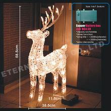 Acrylic 3d outdoor christmas reindeer lights