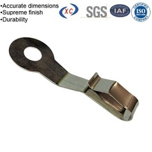 Custom sheet metal work stainless spring clamp