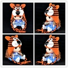 wholesale tiger handmade animal baby hat , crochet kids winter hat , knit animal hats