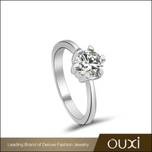 OUXI Spring Fashion gold rings design for women with Austria Crystal 40101