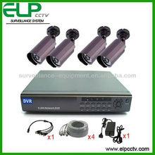 4ch h.264 600tvl security cctv camera set ELP-DVR9104-D7240F
