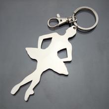 pretty shape dancing theme ballerina keychain manufacturer