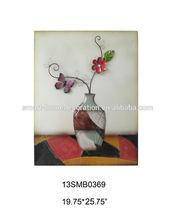 Vase metal wall art trees and leaves metal wall art metal wall art wholesale