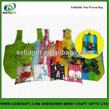 Reusable nylon foldable fabric shopping bag