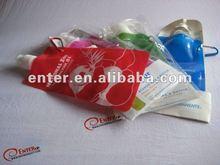 2012 hot !!! soft water bag bottle /promotion foldableplastic bag water bottle