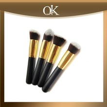 QK black wood cosmetic brushes