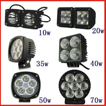 High quality and high performance 10w to 70w led working light cree led work light