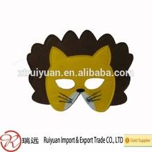 perfect!! cheap lion head felt party mask or custom