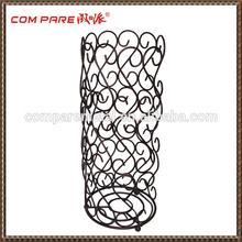 Flower design decorative metal paper stand