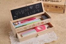 multifunction pencil case with blackboard,wooden pencil box