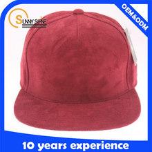 Suede Fabric snapback cap wholesale