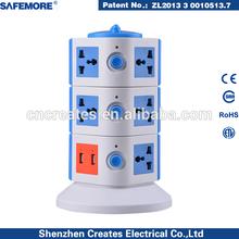 desktop surge protector convenience outlet universal