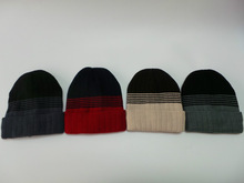 2015 New fashion winter knitted men beanie hats