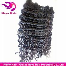 100% raw unprocessed wholesale 8a brazilian human deep curl hair weaves