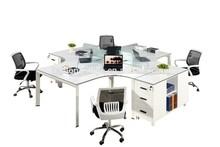 modern steel MFC office desk with side cabinet