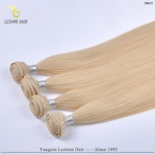 100% Remy Double Drawn Unprocessed Tangle and Shedding Free white blonde human hair extensions