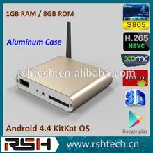 XBMC navigation android box S805 BD-ISO 3D Android m8 ott tv box full hd 1080p cheap digital tv antenna