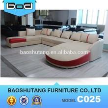 hot top leather u shape caliaitalia leather sofa c025