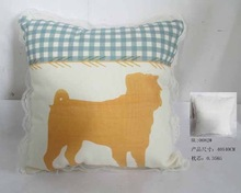 2015 New Design Cheap Hot OEM Beautiful& Comfortable Dog Picture Customized Square Pillow for Men and Women