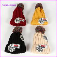 Custom brand new knitted pom beanie baby children pom pom hats