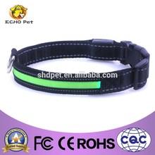 Pet Dog LED green flashing LED mini illuminated dog collar