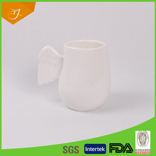 New Products Belly Shape Super White Mug With Angel Wings For Kid