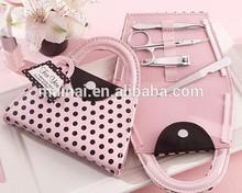 Bride Shower Favors Pink Polka Purse Manicure Set