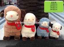 Coloured scarf sheep stuffed animals plush lambs plush cuddly soft