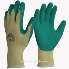 CE green latex coated TC working glove working glove safety glove