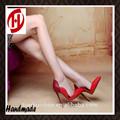 de mujer de tacón alto diseño de moda sexy rojo suela de zapatos de vestir