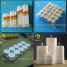 bianche ingrosso candela di cera di paraffina di produzione candele fabbrica di candele