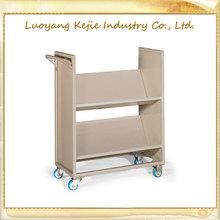 steel rolling book cart rolling library cart book shelf materials convenient book cart moving book cart made in henan