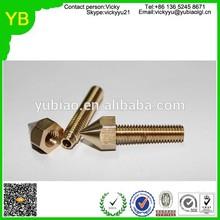 cnc machining process high precision brass/copper threaded fasteners