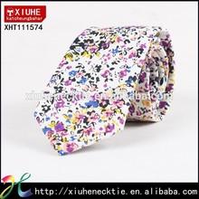 Floral cotton printed necktie fashion
