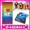 Top quality promotion gift printed microfiber custom beach towel