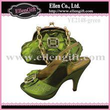 Hot Sale Italian Matching Shoes and Bag Set YE2148-Green