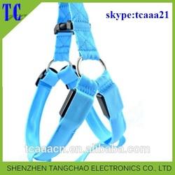 205 new product dog harness/Waterproof nylon led dog leash novelty gift