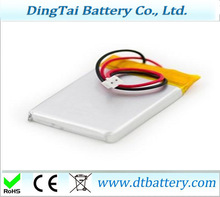 pouch battery polymer 652647 3.7v 800mah li-ion polymer battery for point reading pen, MP3 / MP4, PDA