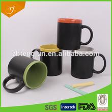11oz Blank Blackboard Coffee Cup Set/made In China Stoneware Chalk Mug/in Color Box Ceramic Blackboard Mugs