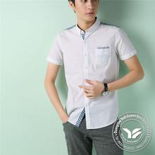 high quality cotton/bamboo fiber r pierced chiffon shirt