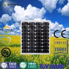 New design high efficiency mono 40w 50w micro solar panel