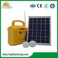 Panneau solaire 6W, Batterie 4AH et système génératif d' électricité lumières solaires