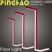 Matt silver colour art gallery SAA floor lamp with table
