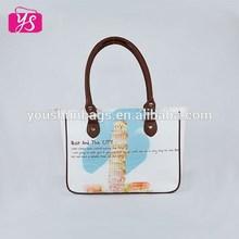 2015 promotional fashion ladies beach tote bag