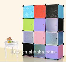 Bedroom Furniture closet design modern design 12 magic cubes pp plastic foldable wardrobes (FH-AL0039-12)