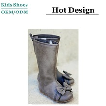 2015 newest design fashion extra tall rubber sole cute little girls' shoes with bow